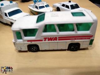 Mini Ônibus Twa Passageiros Aeroporto Veículo Antigo Miniatu