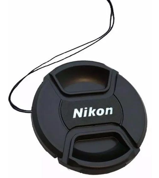 Tampa Da Lente Frontal Nikon 55 Mm Com Logo