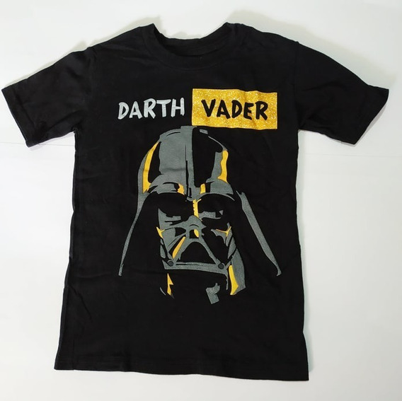 Playera Original Star Wars Para Niño Negra Darth Vader Talla 6