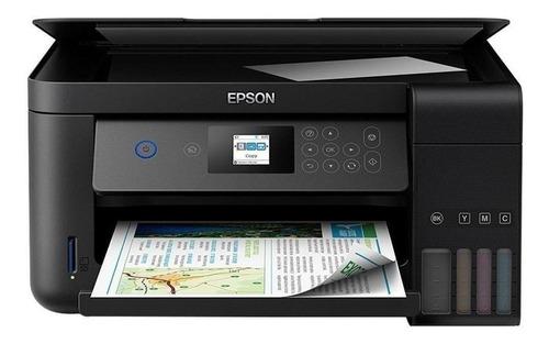 Imagen 1 de 5 de Impresora a color multifunción Epson EcoTank L4160 con wifi negra 220V