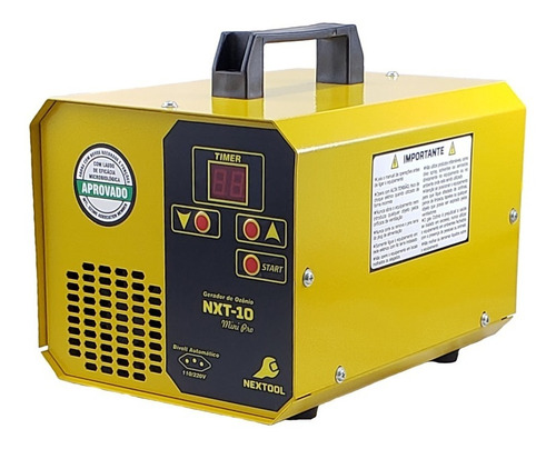 Nxt-10 Gerador De Ozônio Para Ambientes E Automóveis 15g/h