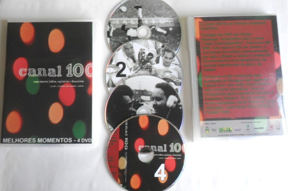 Dvd Canal 100 ( 4 Dvd ) - Telejornal Do Futebol Brasileiro