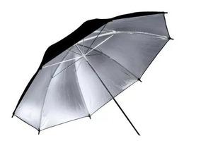 Sombrinha Refletora Preta Prata 91cm / Yu302 = 4 Und R$195