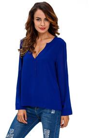Camisa Longa Social Feminina #16001