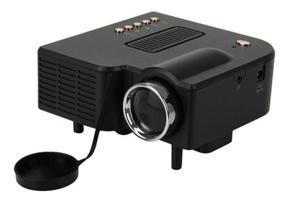 Mini Projetor H30 Led Portátil Multimídia Show Hdmi
