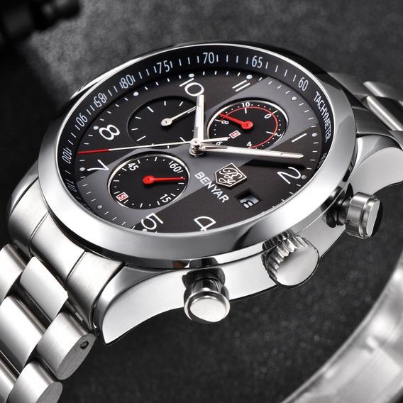Relógio Pulso - Benyar - 43mm - Vidro Hardlex - Estoque