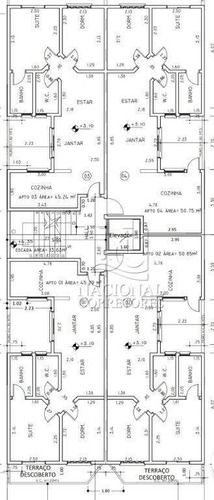 Cobertura Com 2 Dormitórios À Venda, 92 M² Por R$ 320.000,00 - Parque Novo Oratório - Santo André/sp - Co5518