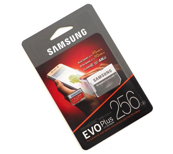 Cartão Evo Samsung 256gb Micro Sd 95mb/s Lacrada J7 S7 S8 Galaxy Moto G S9 S10 Drone 4k Motorola Lg Gopro Hero