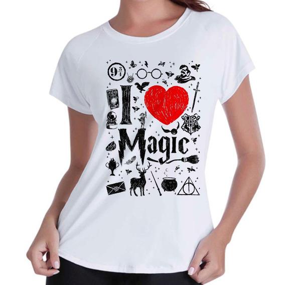 Camisa Camiseta Babylook Harry Potter Lovers Magic