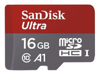 Micro Sd 16gb Clase 10 Hc Sandisk Original Garantía Oficial