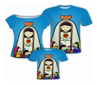 Camisas Mãe E Filha,camisa Pai,nossa Senhora