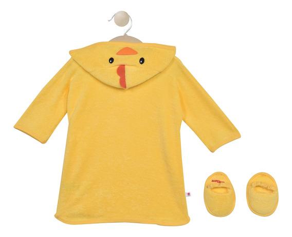 Bata De Baño Con Pantunflas Baby Creysi Amarillo U00461
