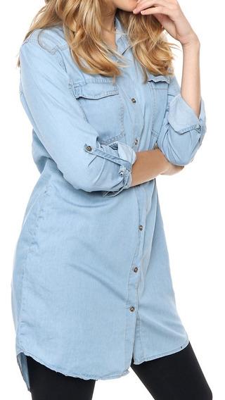 Camisas Camisolas Vestidos Mujer Largas Jean Chelsea Market