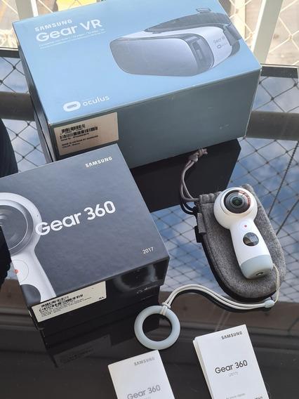 Samsung Gear 360 C Cartão Memoria E Oculos Vr Samsung Gratis