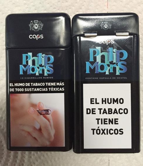 Cigarrera Philip Morris Caps Lata Para 10 Unidades(vacio)
