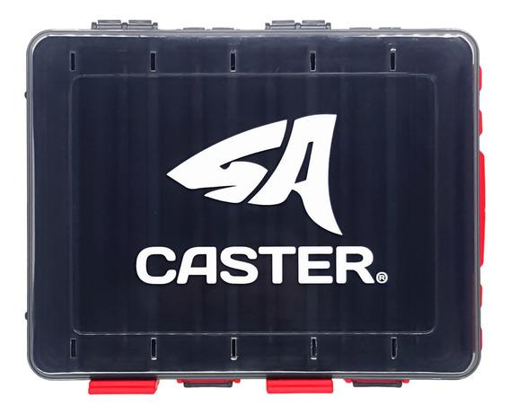 Caja Caster Para Señuelos Doble Faz 12 Divisiones 21x17x5cm