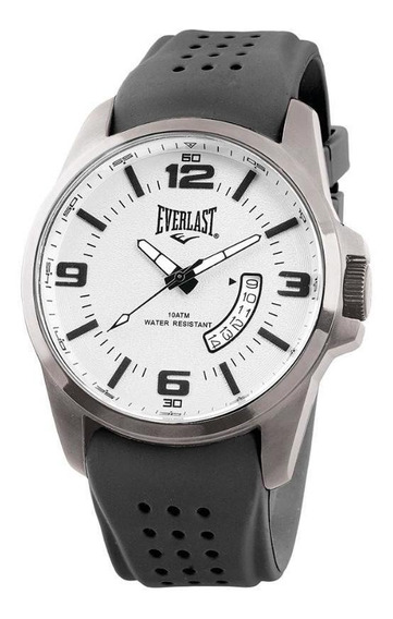 Relógio Pulso Everlast Masculino Aço Calendário E483
