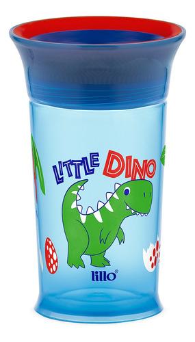 Copo De Treinamento 360° Dinossauro 266ml Azul - Lillo
