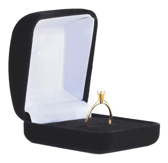 Anel Solitário Banhado A Ouro Presente Dia Dos Namorados