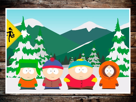 Poster South Park Stan Kyle Cartman Kenny 47x32cm 200grms