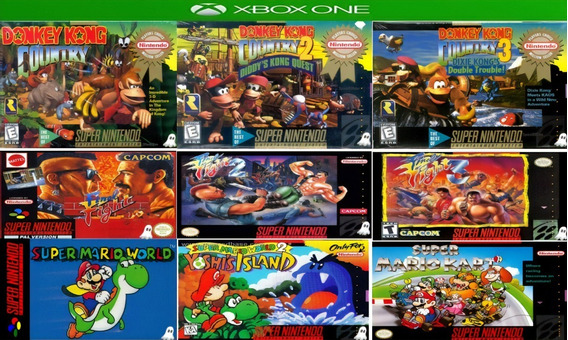 Trilogia Donkey Kong + Final Fight + Super Mário Xbox One **