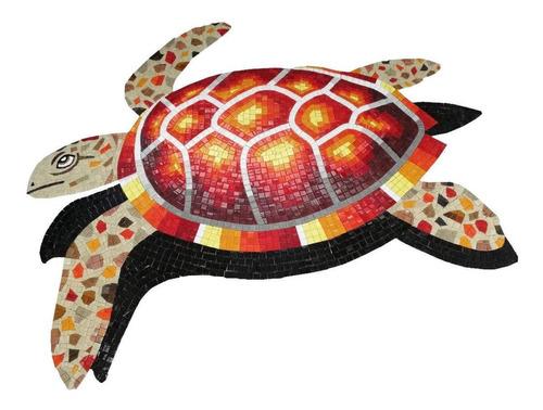 Imagen 1 de 3 de Mosaico Figura Tortuga Marina Roja De 60 Cms. Para Alberca
