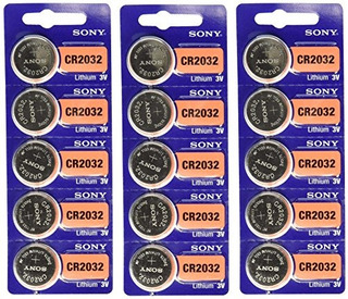 Bateria De Monedas Sony Cr2032 3v Lithium 2032 Paquete De 15