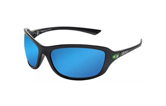 Óculos De Sol Spy Original - Mod Link 44 Preto - Lente Azul