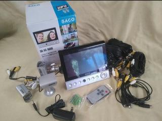 Kit De Camaras De Seguridad Con Sonido Y Monitor De 7 Cctv
