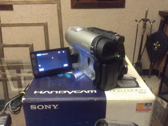 Filmadora Sony Handycam Dcr-dvd 610 Com Acessórios E Mais 01 Bateria De Reserva.