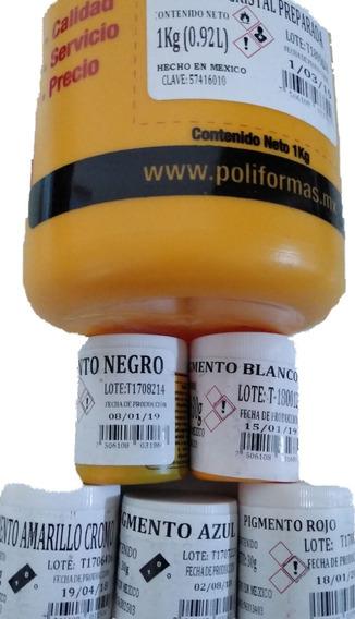 Resina Cristal Preparada Con 5 Pigmentos Solidos