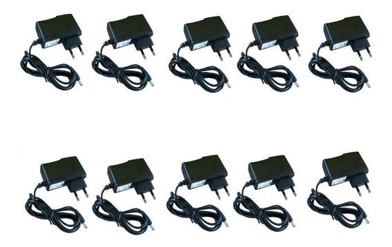 Fonte 12v 1a Ideal Para Câmeras De Segurança Kit 10 Unidades