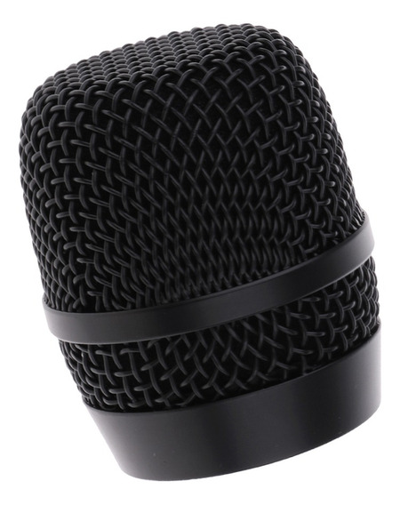 Durale Aço Microfone Bola Grade Cabeça Preto Mic Acessório P