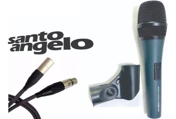 Santo Angelo Microfone Cardioide Sas 35c Dinamico + 5m Cabo