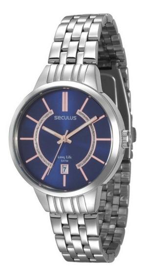 Relógio Feminino Seculus Prateado 28434l0svna1 C/ Garantia