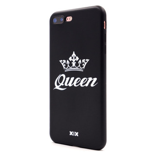 For iPhone 7 Funda Queen Slim Fit Black Shockproof Bumper Ch