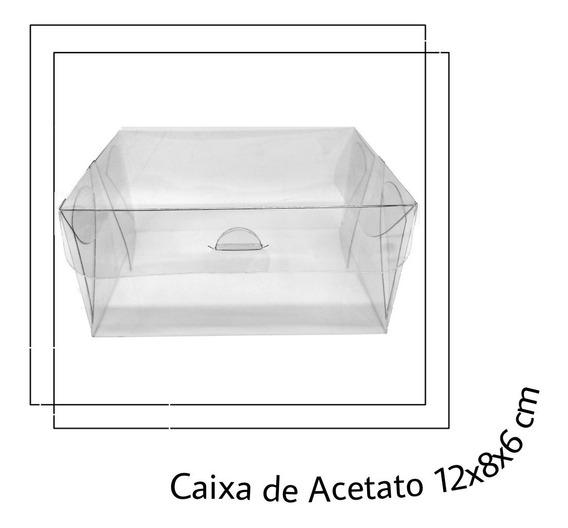 100 Caixas Acetato 12x8x6 Lembrancinha Artesanato