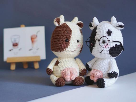Amigurumi Pattern - Cow PDF Crochet Pattern - Tutorial Digital ... | 426x568