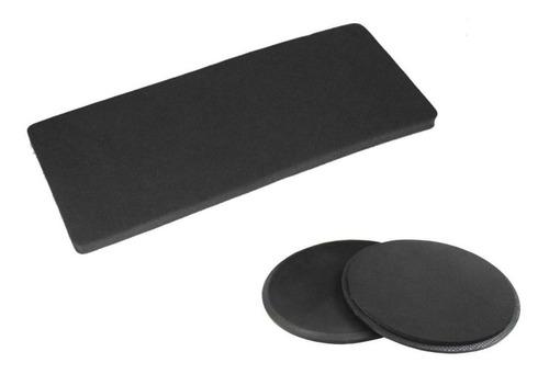 Imagen 1 de 8 de Kit Tapete Y Discos Deslizadores Sliders Ejercicios Fitness