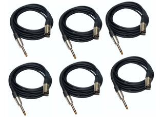 6 Cable Canon Xlr Macho A Plug Mono X 6 Mts + Regalo Hamc