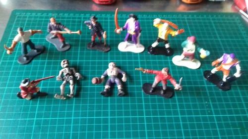Lote Soldaditos Piratas Y Esqueletos Goma Y Plástico Fuguras
