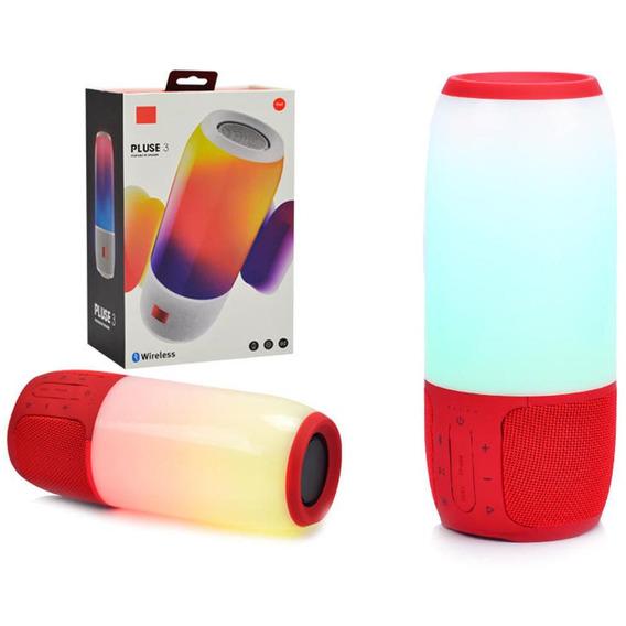 Caixa De Som Bluetooth 20w Pluse 3 Led Vermelho Pluse 3 Gene