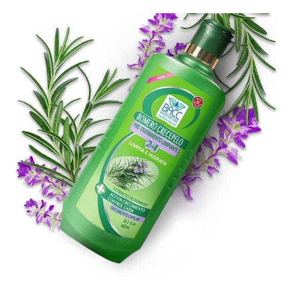 Shampoo Bacc Pack 2 De Romero Crece Pelo Control Caída