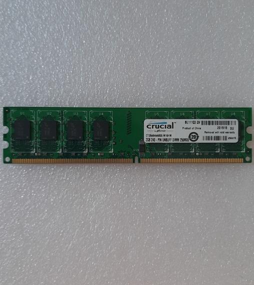 Memoria Ram Pc Crucial 2gb Ddr2 800mhz