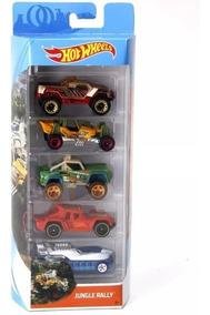 Hot Wheels Conjunto C/ 5 Carros Jungle Rally Fkt54 - Mattel