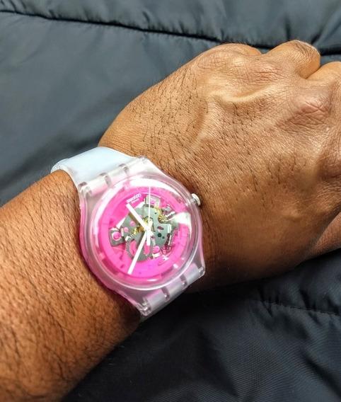 Swatch Reloj Unisex Skeletor Swiss Máquina Visible Caucho