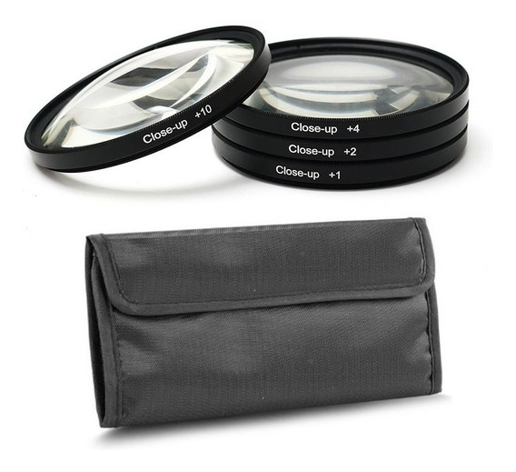 Filtro Close Up Kit 52mm +1 +2 +4 +10 C/estojo Fotobestway