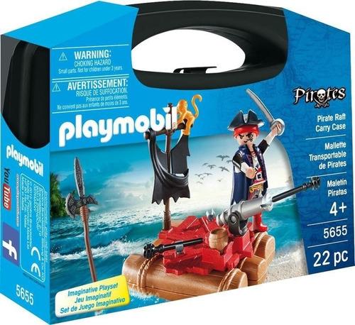 Juguete Playmobil Valija Maletín De Piratas Con Cañon 5655
