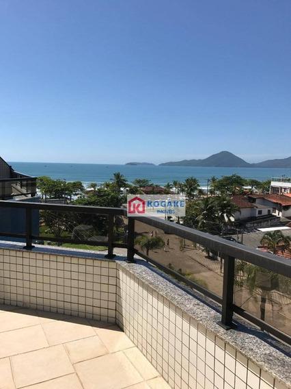 Cobertura Com 4 Dormitórios À Venda, 125 M² Por R$ 1.000.000,00 - Praia Grande - Ubatuba/sp - Co0072