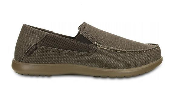 Mocasin Hombre Crocs Tela Goma Confort Marron - Hcal00724